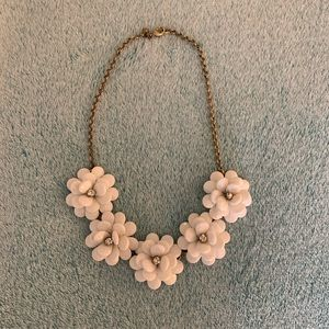 J. Crew White Floral Chunky Wreath Necklace